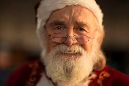 Santa Upon a Starry Night